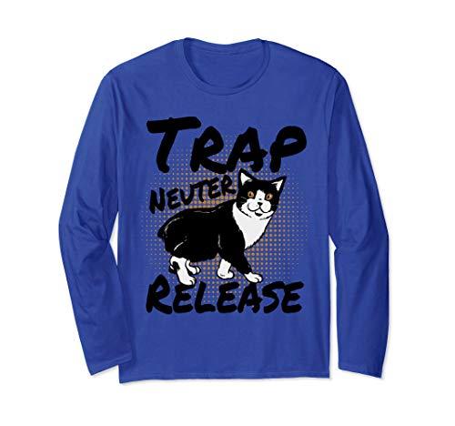 TNR Trap Neuter Release Feral Cat & Kitten Rescue Awareness Langarmshirt