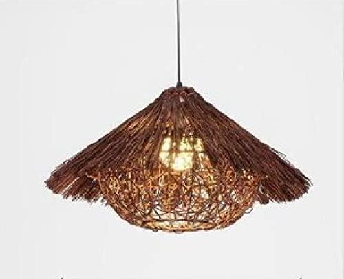 Lámpara Colgante De Techo,Lámpara De Araña Colgante Sala,Plafón De Techo,Iluminación Candelabro,Nido De Pájaro De Personalidad Creativa Luz D40Cm Marrón