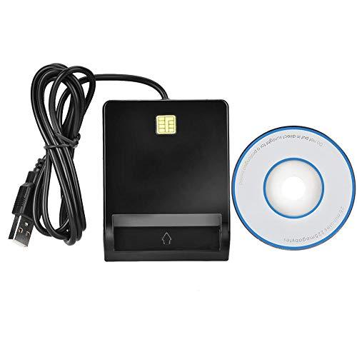 Soporte de Lector de Tarjeta Inteligente USB DNIE, ATM, IC, ID, CAC, SIM, Lector de Acceso común de Tarjeta bancaria con Disco óptico, Compatible con el Sistema de Windows
