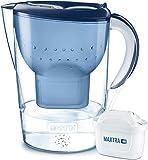 BRITA Marella XL – Jarra de Agua Filtrada con 1 cartucho MAXTRA+ – Filtro de agua BRITA de color azul que reduce la cal y el cloro – Agua filtrada para un sabor excelente