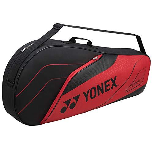 Yonex Badminton Racket Holdall Reisetasche, schwarz/rot, Einheitsgröße