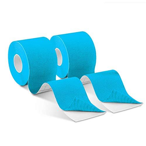 Kinesiologie Tapes Physio 5m x 5cm, Muskeln Kinesiology sport vorgeschnitten, Rollenlänge Elastisches Therapeutisches sport verletzungen Tape Elastische Bandage für Plantarfasziitis Physiotherapie