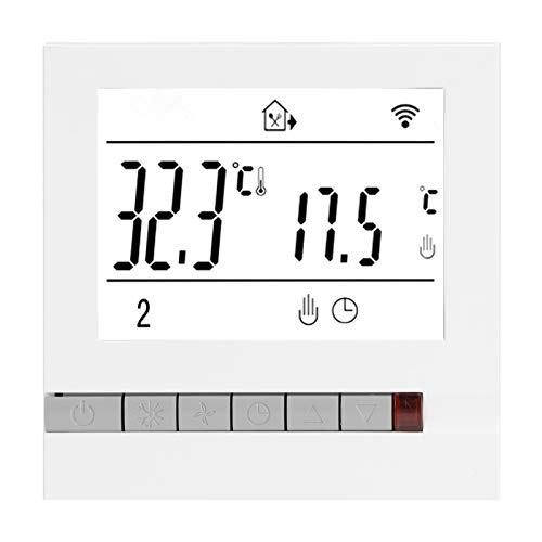 Controlador de temperatura, termostato eléctrico antiinterferencias, modo digital de 7 días para Amazon Alexa Accesorios de calefacción eléctrica Asistente de Google