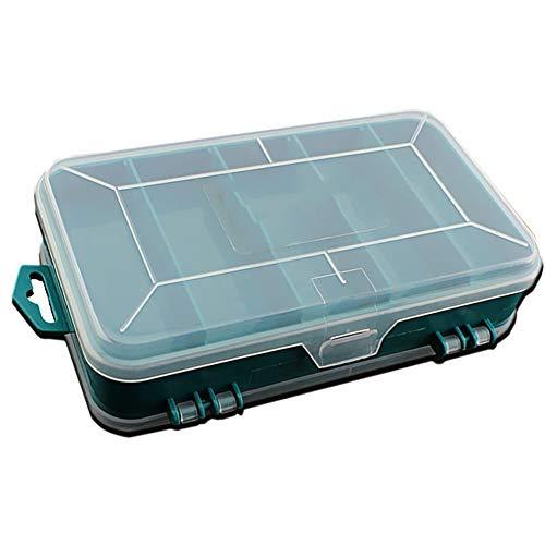 Cestbon sorteerdoos voor kleine onderdelen opbergdoos 8 vakken, sorteerdozen, verstelbare sieradendoos voor sieraden, kralen, oorbellen, accessoires