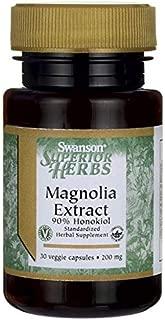 Swanson Magnolia Extract 200 Milligrams 30 Veg Capsules