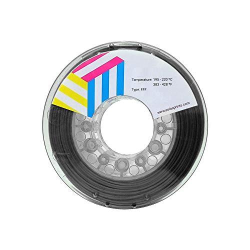 Eolas Prints | Filamento PLA 1.75 | Impresora 3D | Fabricado en España | Apto para uso alimentario y crear juguetes y envases | 1,75mm | 250gr | Gris Oscuro