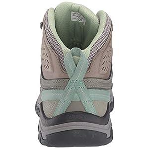 KEEN Womens Targhee Vent Mid Hiking Boot, Fumo/Quiet Green, 9.5 US