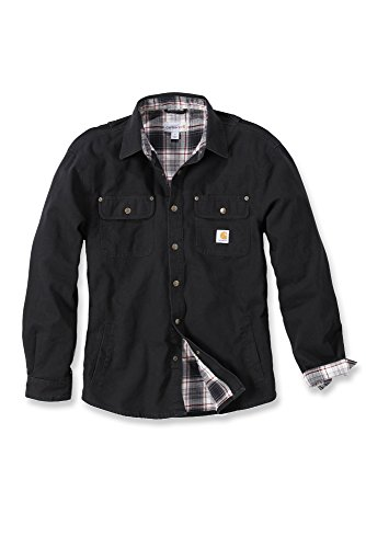 Carhartt Arbeitshemd, arbeitsshirt, Arbeitsjacke Weathered Canvas Shirt Jacket, Black, XL