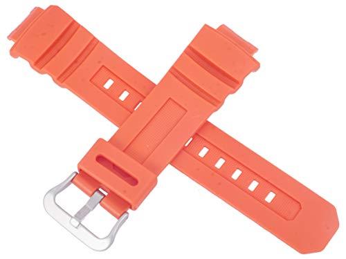 Casio - Correa de reloj para AWG-M100MR-4A AWG M100MR M100 100, color naranja
