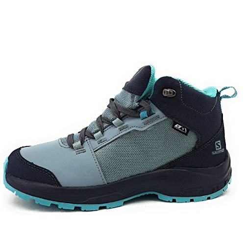 Salomon Unisex Shoes Outward CSWP Wanderschuhe, Blau (Blei/Ebenholz/Meadowbrook), 37 EU