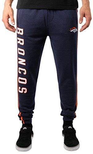 Ultra Game NFL Denver Broncos Active Basic Jogger-Fleece-Hose, Größe XL, Team-Farbstreifen