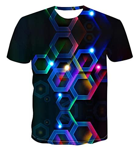 Camisetas Camiseta 3D Estampado Geométrico Camiseta 3D Hip Hop Camiseta De Moda Estampado Animal S-6Xl XXXL Tx-121