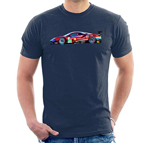 Motorsport Afbeeldingen Ferrari 488 GTE EVO Guidi Calado Heren T-Shirt