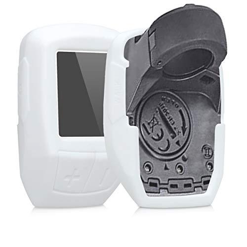 kwmobile Hülle kompatibel mit Bosch Purion - Silikon E-Bike Computer Cover Hülle Schutzhülle - Weiß