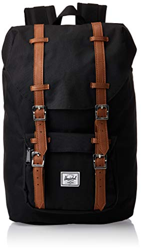 Herschel 10020-00001 Herschel Little America Mid-Volume Black/Tan Synthetic Leather