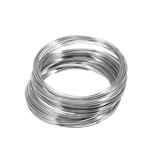 HEALLILY Edelstahl schmuckdraht Silber Armband Ring perlen speicherdraht für manschettenarmreif ergebnisse 300 Kreise 55mm