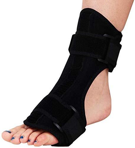 NQCT Rechts oder Links Fuß Sprunggelenk Fallfuß Orthesen, Wiederverwendbare Knöchel-Klammer-Nachtschienen Unterstützung lindert Schmerzen in Füßen und Fersen Verbunden mit Fersensporn 10.2