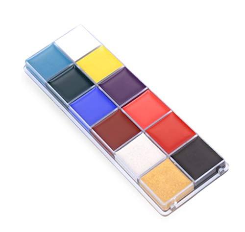 Pintura Facial y Corporal 12 Colores