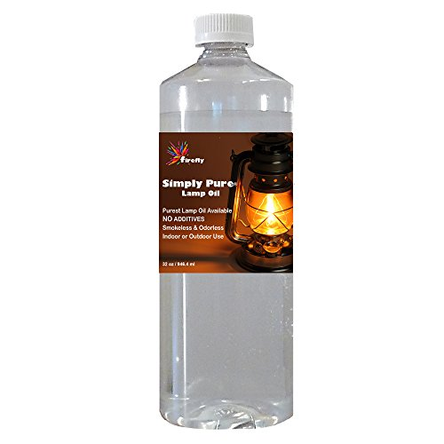 Firefly Eco-Friendly, Non-Toxic, Biodegradable, Kosher Candle and Lamp Oil - Smokeless & Odorless - Simply Pure - Ultra Clean Burning - Liquid Paraffin Fuel - 32 oz