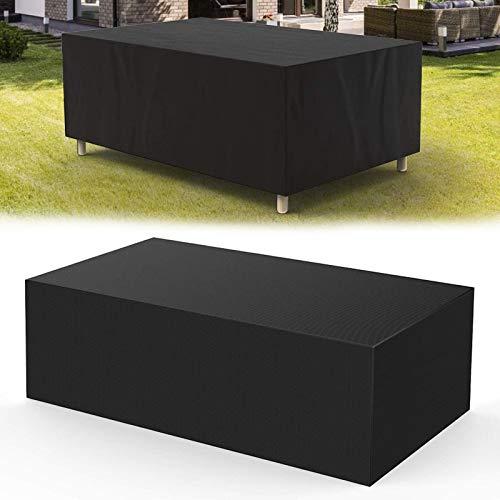 Heavy Duty Patio Furniture Covers Waterproof Rectangular, Outdoor Patio Furniture Covers, 420D Oxford Rain Snow Dust Wind-proof, Anti-UV, Black,L:67xW:37xH:28 inch