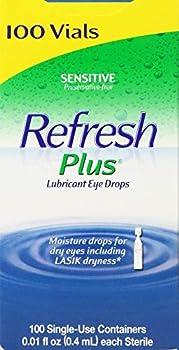 Allergan Refresh Plus Lubricant Eye Drops Single-Use Vials 1Pack  100 ct   klk#Gskx