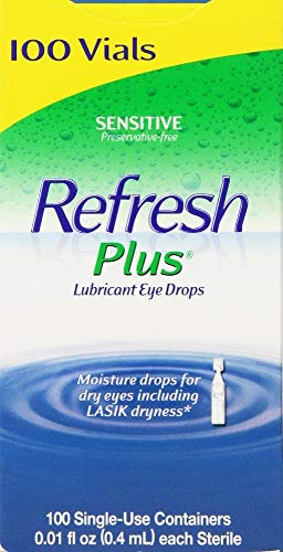 Allergan Refresh Plus Lubricant Eye Drops Single-Use Vials 1Pack (100 ct ) klk#Gskx