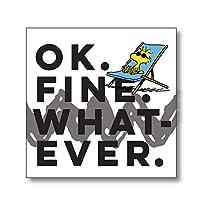 Department 56 6002597 ピーナッツ 「Ok Fine Whatever マグネット 3.5インチ マルチカラー