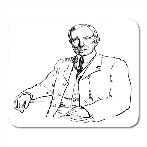 Mauspads American Black 1839 John Davison Rockefeller Sr. Weiß 1937 Milliardär Mauspad für Notebooks, Desktop-Computer Matten Büromaterial