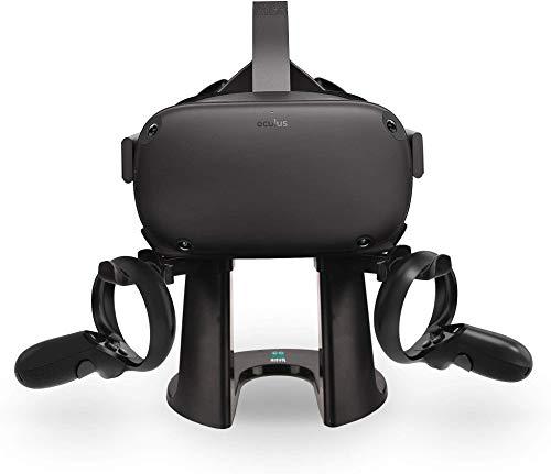 AFAITH VR Ständer, Headset Displayhalter und Controller Montagestation für Oculus Rift S/Oculus Quest Headset und Touch-Controller