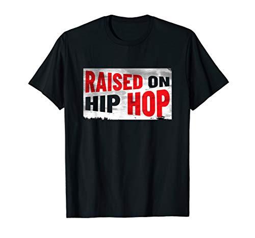 Raised On Hip Hop Vintage Nineties Rap Urban Music Fan T-Shirt