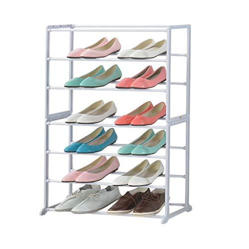 Dongy Rack de zapatos blanco simple Vestíbulo de almacenamiento Rack Estante de zapatos de almacenamiento