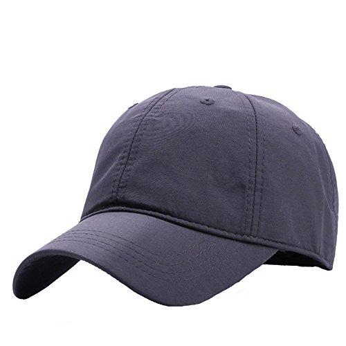 CAP HUO Dünne Schnell Trocknende Hut Golf Caps Baseball Mann Frau, Unisex Durable Einstellbar (4 Farben 2 Größen 54-65 cm) (Farbe : Grau, größe : 59-65cm)