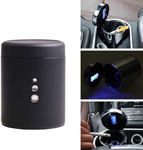 AMITD, draagbare autocilinder, asbak met deksel, blauwe LED-indicator, rookvrije auto, sigarettip, mok