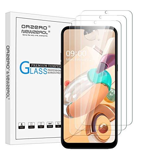 NEWZEROL 3 Stück Bildschirmschutzfolie für LG K41S Panzerglas Fallfre&lich Gebogene Kante Anti Scratch 9 Festigkeit Hochauflösende Bildschirmschutzfolie Aus Gehärtetem Glas