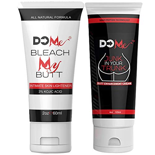 Ultimate Rear-End Combo -Bleach My Butt Intimate Lightening Cream + Junk in Your Trunk Butt Enhancing Cream