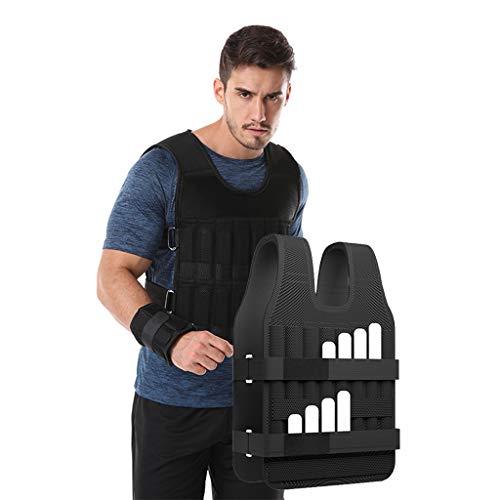 Giubbotto Portante Abbigliamento Da Allenamento Ultrasottile Invisibile Sport Set Completo Di Attrezzature Per Il Fitness Peso Regolabile Traspirante E Confortevole ( Color : Black , Size : 30kg )