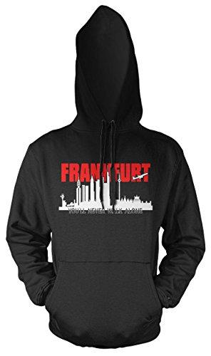 Frankfurt Skyline Kapuzenpullover | Hessen | Fussball | Männer | Herrn | am Main | Hemd | Ultras | Fanshirt | Trikot (L)