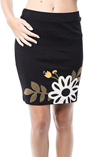 Mamatayoe Giraglia Falda Casual, Negro (Black), Medium (Tamaño del Fabricante:M) para Mujer