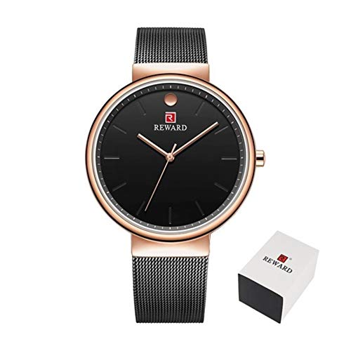 Qilo Homme for Hombre Relojes Marca Ultra-Delgada Simple Reloj de Cuarzo Hombre...