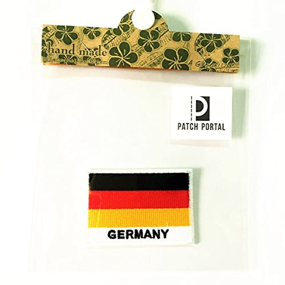 Patch Portal Germany National Flag Emblem Country Name 2x3 inch Size Sew On Patches Embroidered Deutscher Flaggenfleck Aufn?her German Nation Appliques for Jersey Shirt Jackets Backpacks Hats