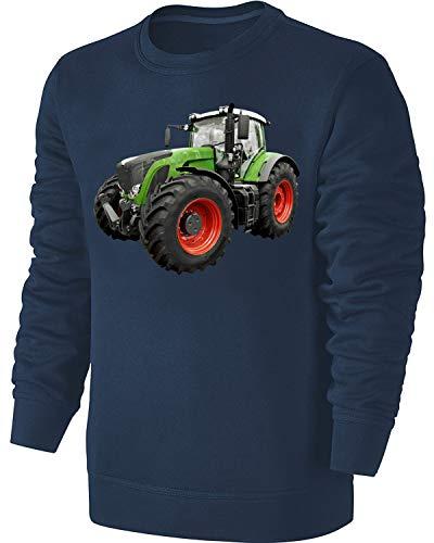 Traktor Kinder Sweatshirt Schlepper Pullover Blau Größe 140