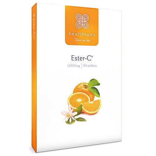 Ester-C 1,000mg | Healthspan | 90 Tablets | Vitamin C | Immune Health | Vegan