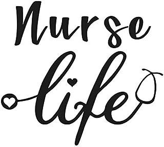 ملصق SixtyTwo24 Nurse Life مقاس 5 بوصات {أسود} - ممرضة مسجلة، RN، R.N، LPN، ممارسي الممرضات، CNA، ملصق العناية الصحية، حيا...