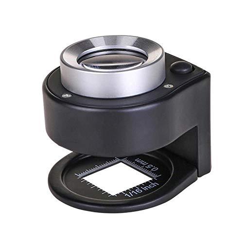 STHfficial 30X verf Vergrootglas LED UV Verlichte Lamp Vergrootglas Dual Optische Glas Lensdoek Vergrootglas Met Schaal Valuta Detecteren
