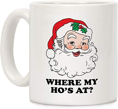 Koffiebeker, Theebeker, Waar is mijn hoer? Wit 11 Ounce Keramische koffiemok