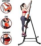 DSHUJC Treppensteiger-Maschine Faltkletter-Übungsmaschine Vertikale Kletter-Übungsmaschine für Fitness zu Hause Fitness