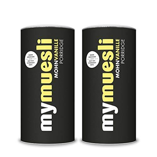 mymuesli Porridge - Bio Haferbrei - 400g - 10 Portionen - Hergestellt in Deutschland aus 100% Bio-Zutaten (Mohn-Vanille-2x)