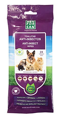 MENFORSAN Toallitas Anti Insectos para Mascotas 200 g