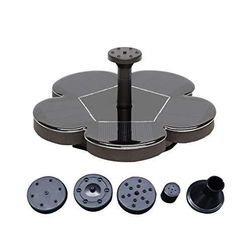 Mikiya Solar-Wasser-Brunnen-Pumpe für Garten Miniatur Schwimmdock Brunnen AS70A (Speicher) Miniatur Schwimmdock Solarbrunnen Teichgarten Wasserpumpe Monokristalline-Panel