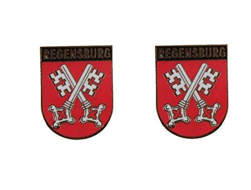 Yantec Wappenpin 2er Pack Regensburg 20 mm Pin Anstecknadel